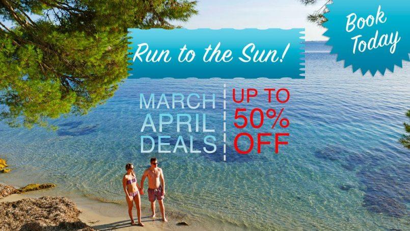 April and May villa rental specials